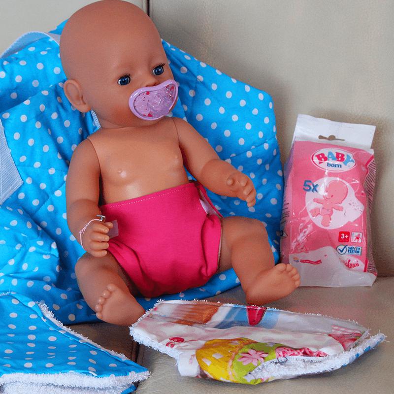 Windel für Baby Born nähen