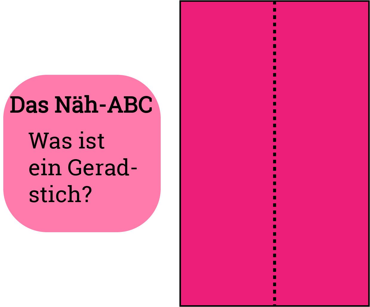 Näh-ABC - Was ein Geradstich ist