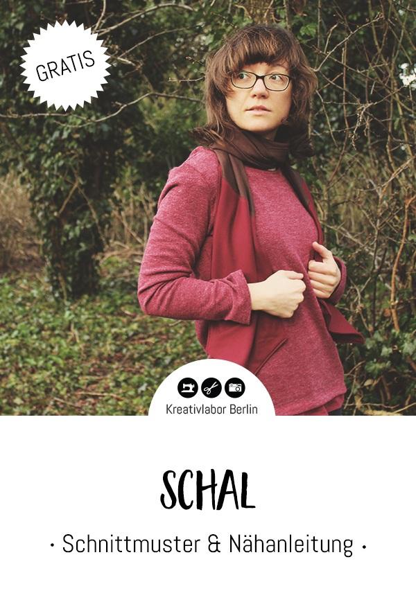 Einfachen Schal nähen mit Nähanleitung und Schnittmuster von Kreativlabor Berlin