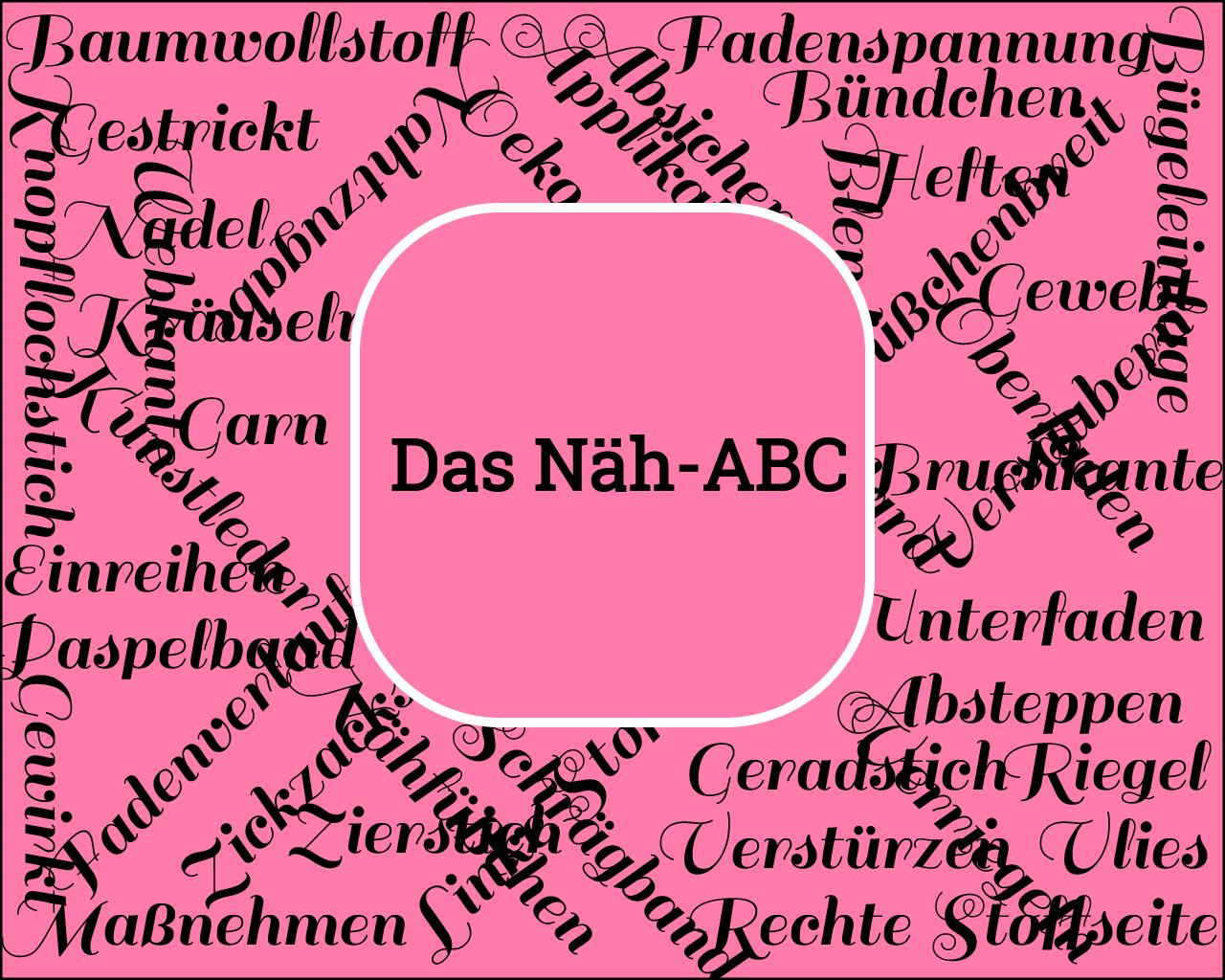 Das Näh-ABC: Stoffbruch, linke und rechte Stoffseite im Nählexikon erklärt