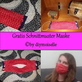 Schnittmuster für Maske mit Innenfach (Aktualisiert!)