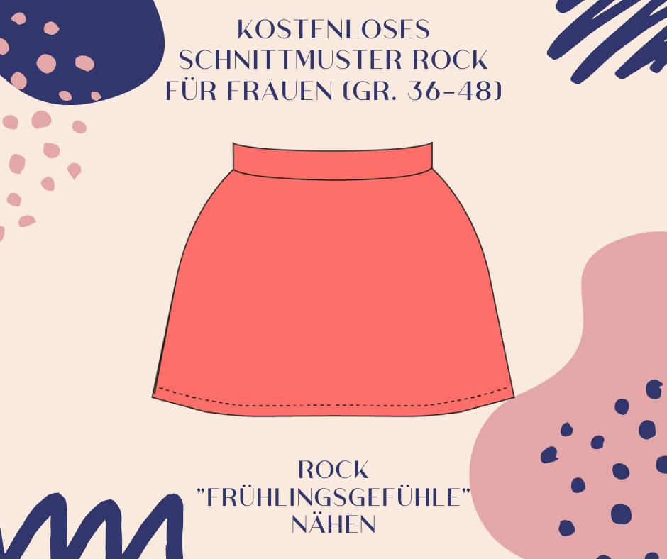 """Kostenloses Schnittmuster für Rock """"Frühlingsgefühle"""" für Frauen (Gr. 36-48)"""