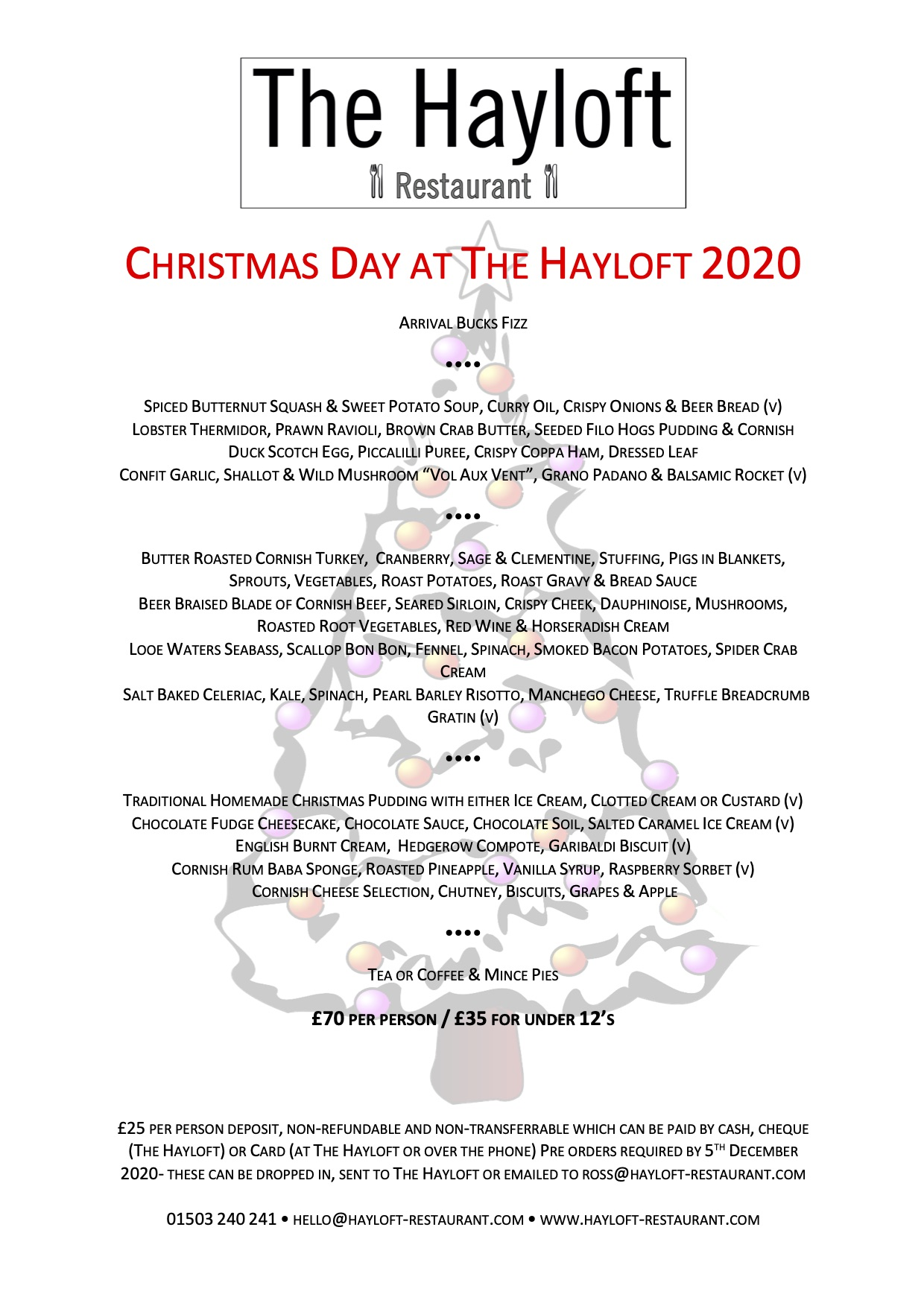 Christmas Day at The Hayloft 2020