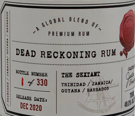 Dead Reckoning Rum The Sextant rum review by the fat rum pirate
