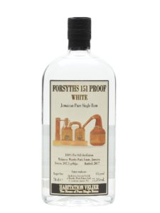 Habitation Velier Forsyths 151 Proof White Rum Review by the fat rum pirate