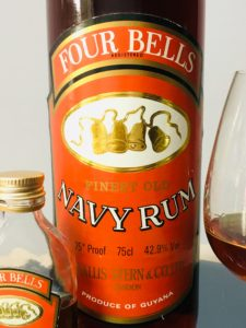 Four Bells Finest Old Navy Rum review by the fat rum pirate