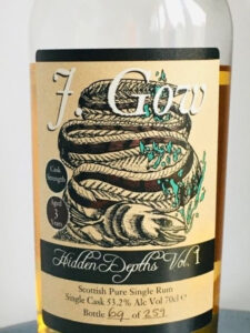 J. Gow Hidden Depths Vol. 1 Rum Review by the fat rum pirate