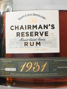 1931 St Lucia Distillers - Chairman's Reserve rum review by the fat rum pirate