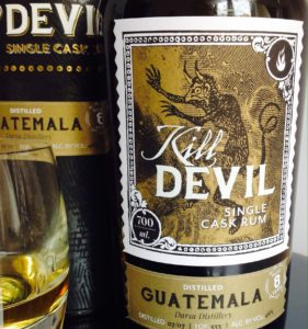 Kill Devil Guatemala 8 years rum review by the fat rum pirate