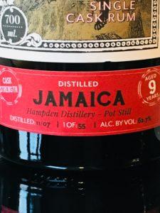 KIll Devil Jamaica Hampden Estate Single Cask Rum Review by the fat rum pirate
