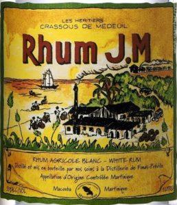 Rhum J.M Blanc 50% White rum review by the fat rum pirate