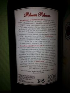 Rhum Rhum Liberation 2015 Version Integrale Rum Review by the fat rum pirate