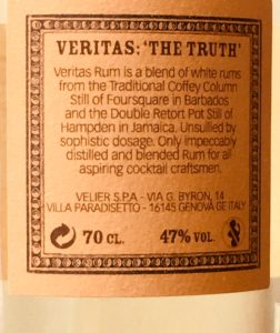 Veritas The Truth Foursquare Rum Distillery Review by the fat rum pirate