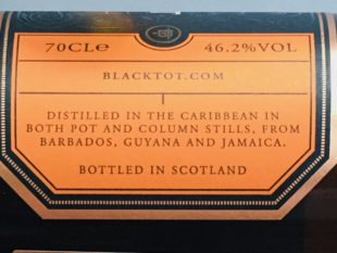 Black Tot Rum Finest Caribbean Rum Review by the fat rum pirate