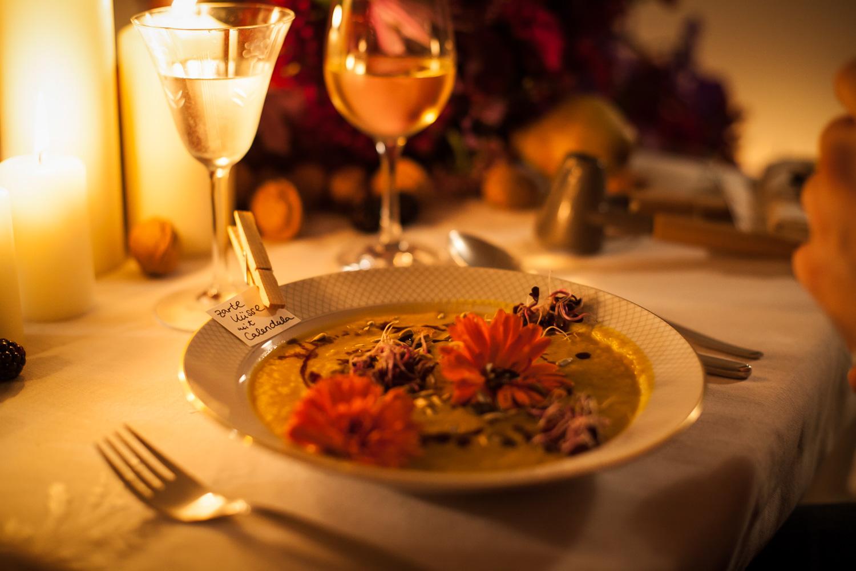 Wild and Root essbare Blüten Dinner