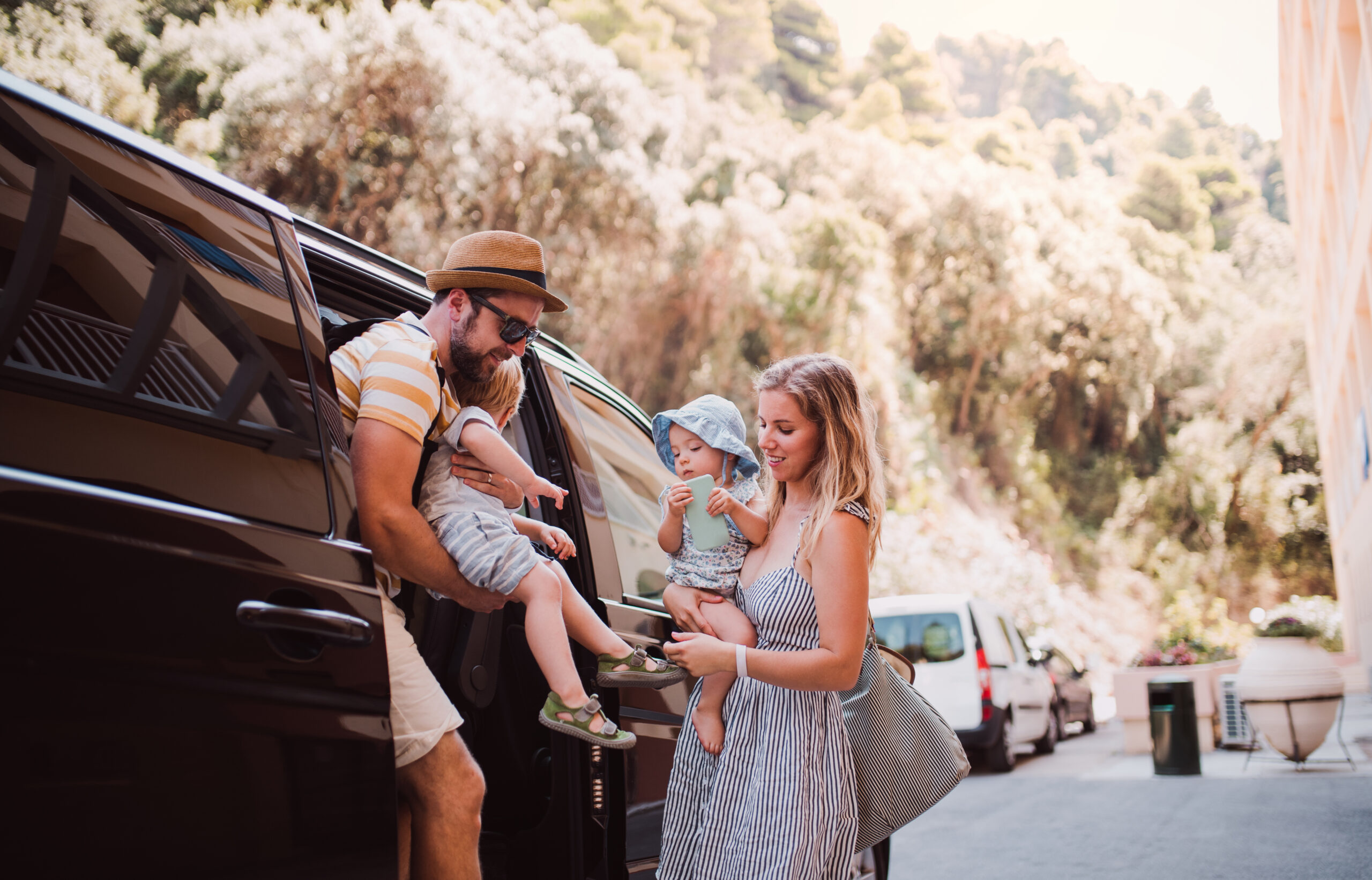 family travelling with Airport transfers malaga