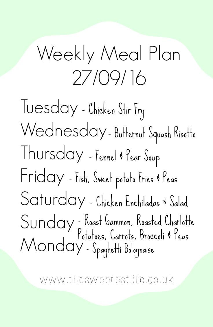 Weekly Meal Plan (Family Of Four)