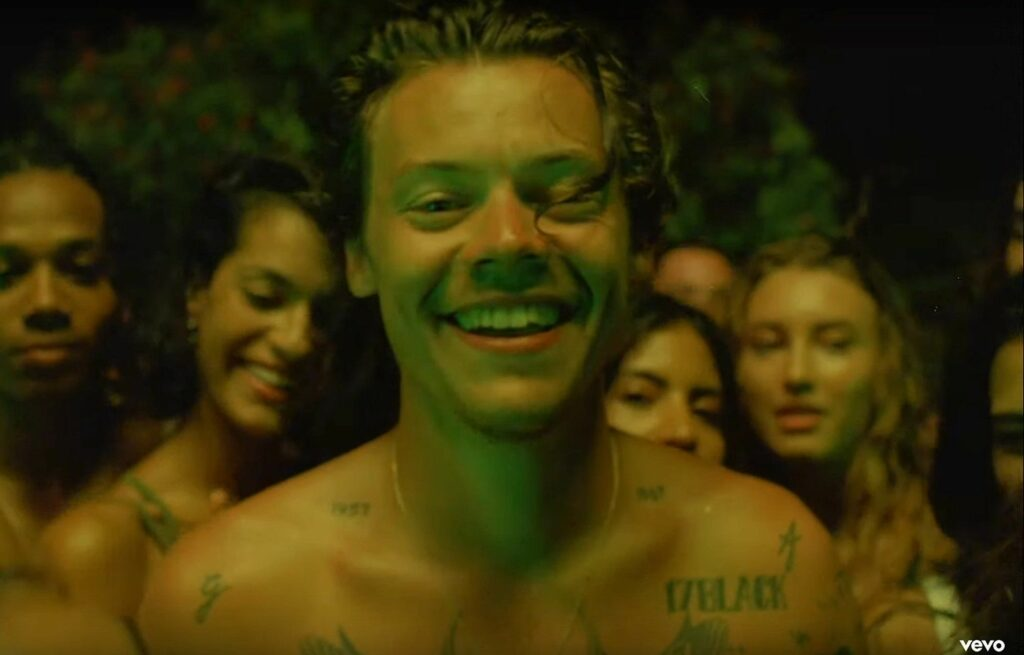 harry styles lights up video