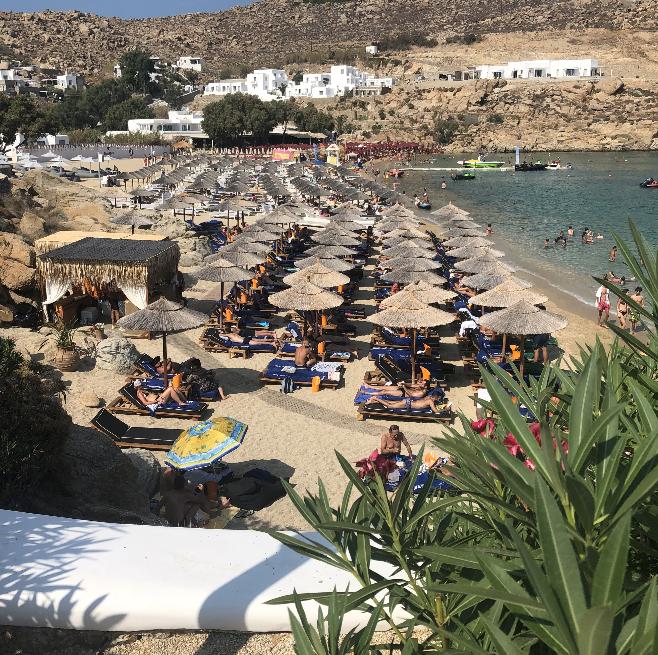 Jackie O's beach club in Mykonos
