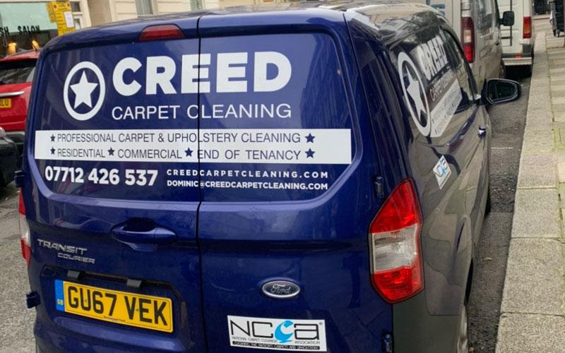 creed carpet cleaning van