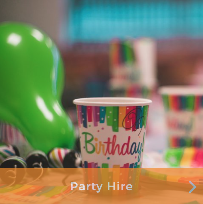 Party Hire - Jump to party Hire Page