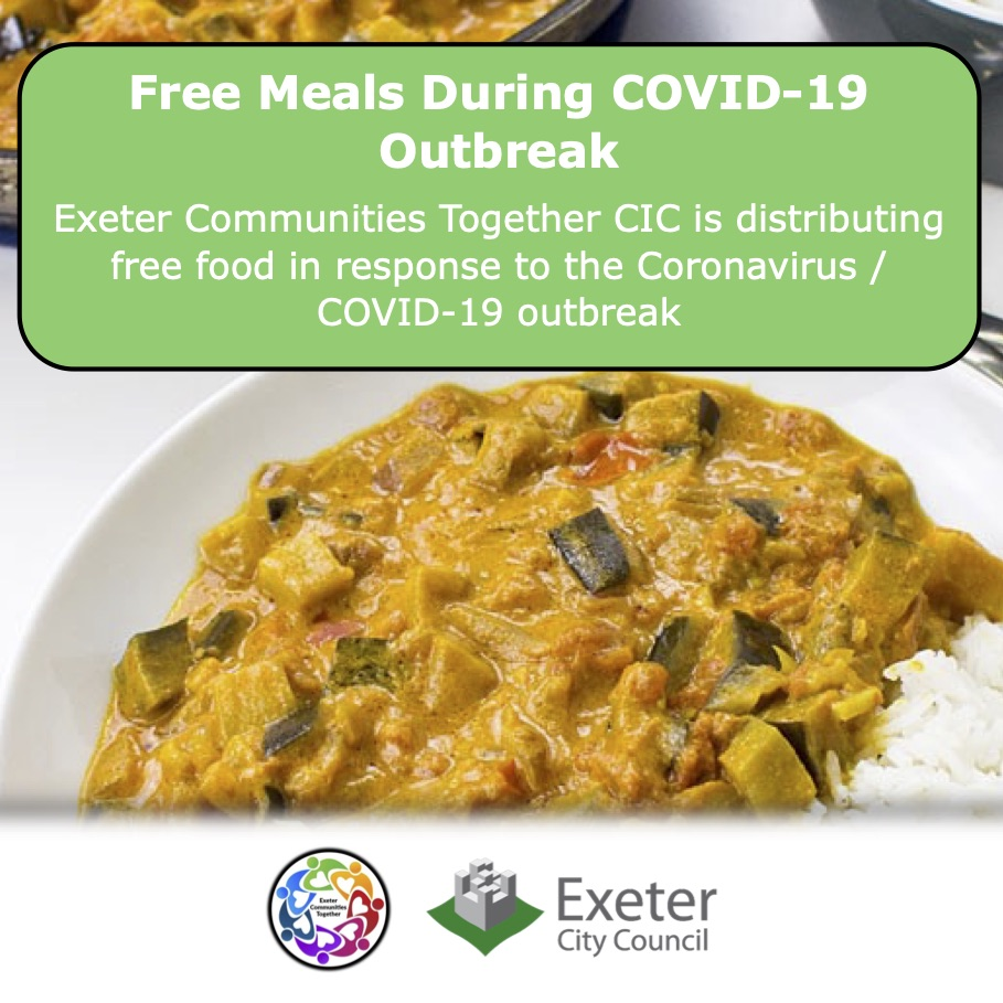 Hot meals provided by Coronavirus Hardship Relief Project