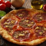 How to make crunchy gluten-free pepperoni pizza.