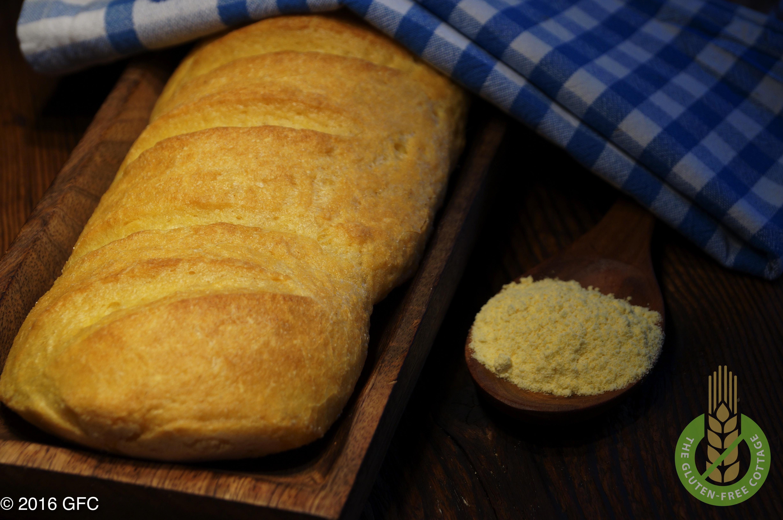Gluten-free crispy french bread / white bread.