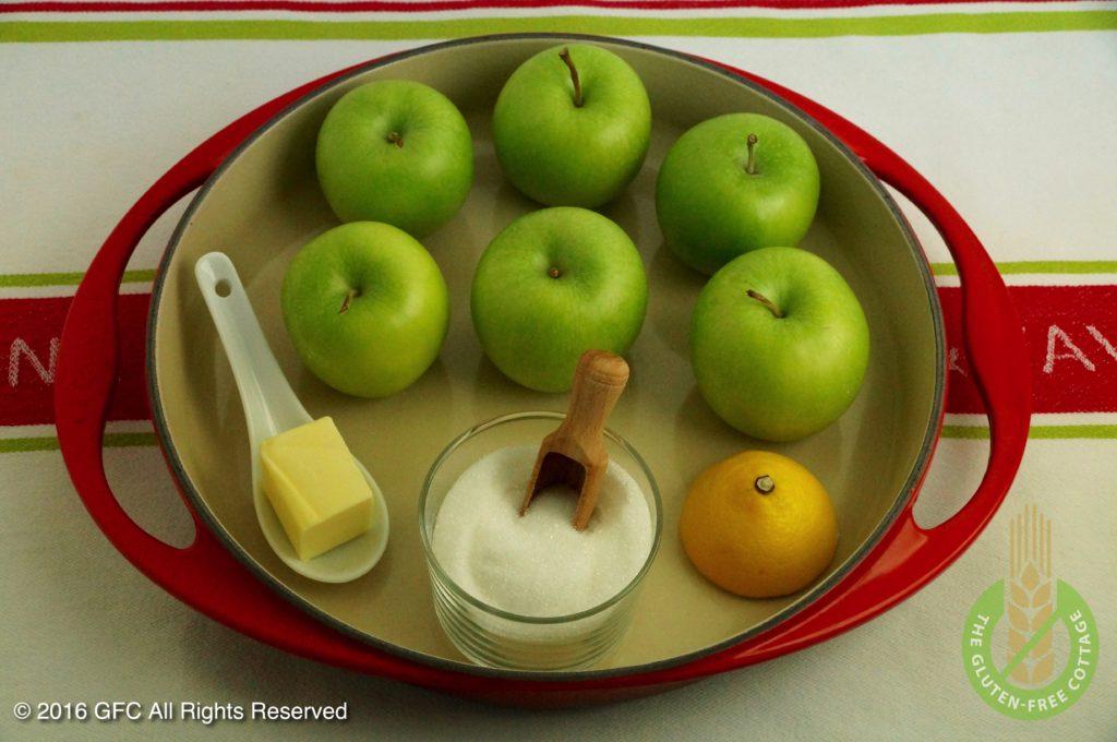 Filling for apple crumb pie (gluten-free upside down apple pie/ tarte tatin).