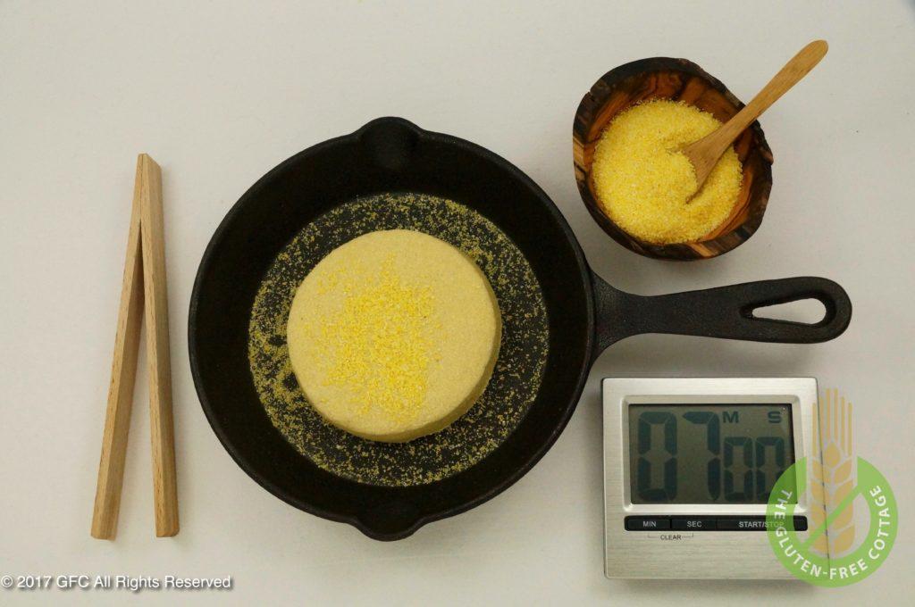 Bake muffins in a skillet (gluten-free eggs Benedict/ gluten-free English muffins).