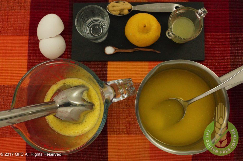 Prepare sauce Hollandaise (gluten-free eggs Benedict).