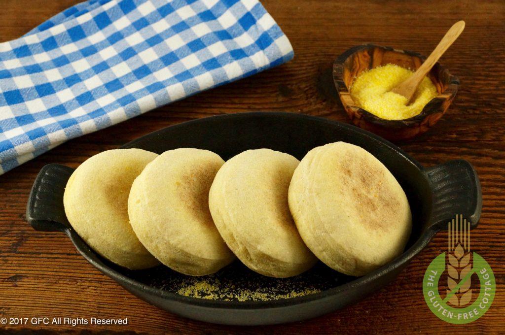 Homemade gluten-free English muffins (gluten-free eggs Benedict/ gluten-free English muffins).