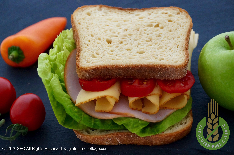 Crusty, soft and chewy gluten-free sandwich bread.