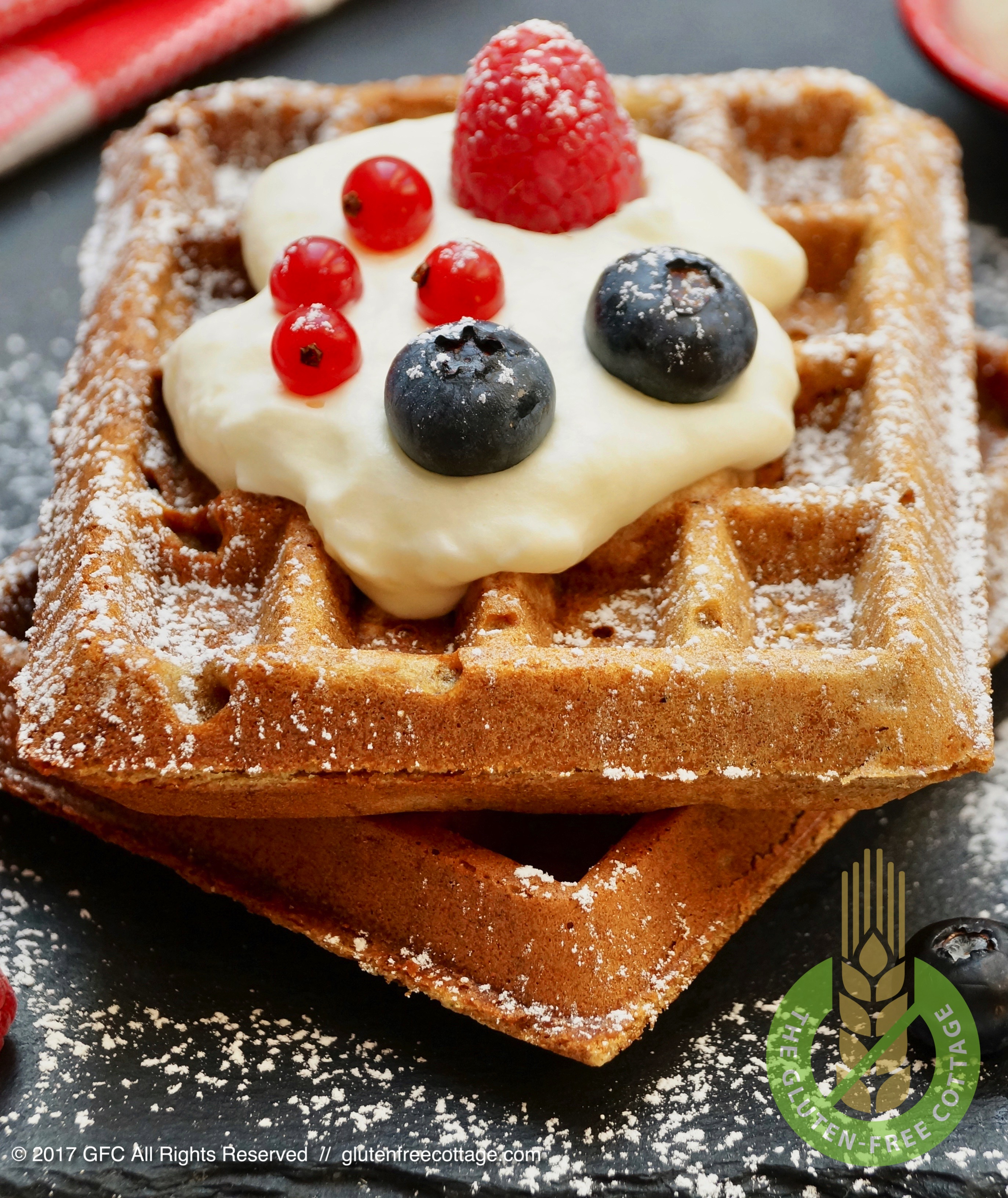 Crispy and tasty gluten-free waffles.