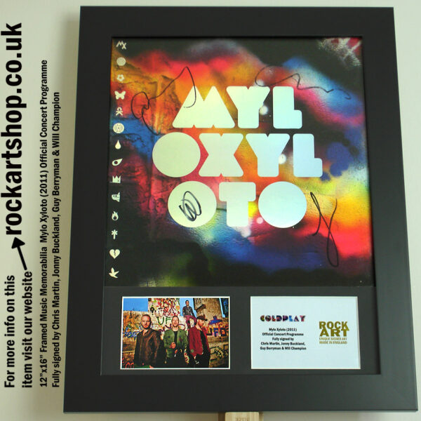 Coldplay Fully Signed MYLO XYLOTO