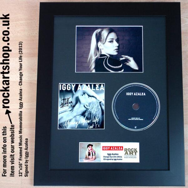 IGGY AZALEA CHANGE YOUR LIFE SIGNED CD FRAMED DISPLAY