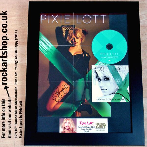 PIXIE LOTT SIGNED YOUNG FOOLISH HAPPY POSTER MUSIC MEMORABILIA