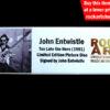 JOHN ENTWISTLE THE WHO SIGNED MEMORABILIA