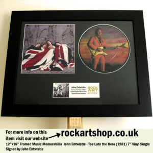JOHN ENTWISTLE THE WHO SIGNED VINYL SINGLE MUSIC MEMORABILIA
