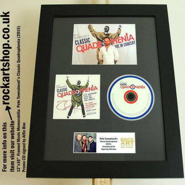PETE TOWNSHEND CLASSIC QUADROPHENIA CD SIGNED BY ALFIE BOE