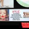 KYLIE MINOGUE SIGNED KISS ME ONCE CONCERT FLYER AUTOGRAPHED CD
