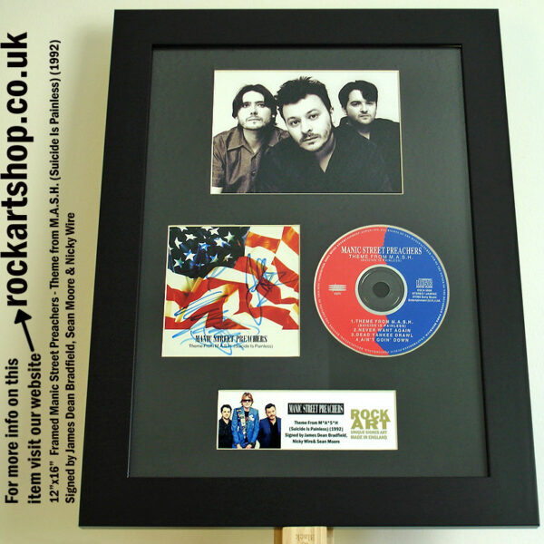 MANIC STREET PREACHERS THEME FROM MASH AUTOGRAPHED CD