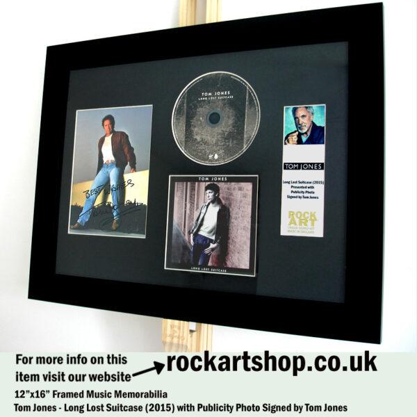 TOM JONES SIGNED PUBLICITY PHOTO AUTOGRAPHED CD FRAMED