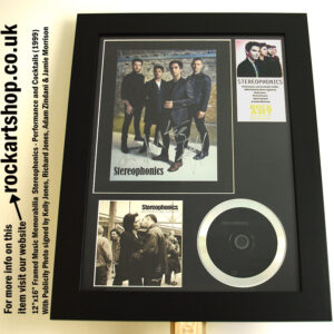 STEREOPHONICS AUTOGRAPHED PERFORMANCE AND COCKTAILS SIGNED