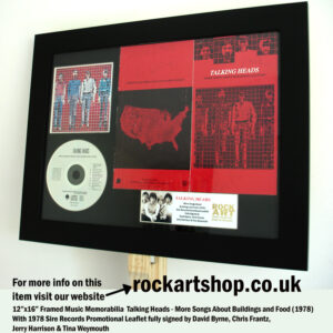 TALKING HEADS FULLY SIGNED CD MORE SONGS ABOUT DAVID BYRNE