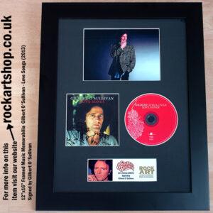 GILBERT O'SULLIVAN SIGNED CD AUTOGRAPHED FRAMED MEMORABILIA