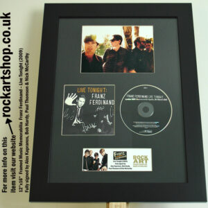 FRANZ FERDINAND CD FULLY SIGNED ALEX KAPRANOS +BOB+PAUL+NICK