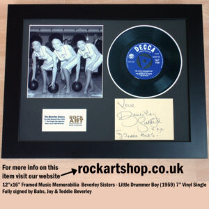 BEVERLEY SISTERS VINYL SINGLE FULLY SIGNED BABS JOY TEDDIE