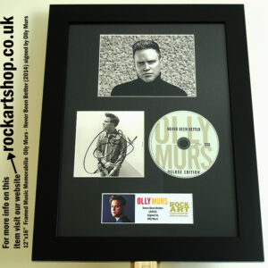 OLLY MURS SIGNED NEVER BEEN BETTER SIGNED CD