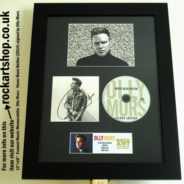 OLLY MURS SIGNED NEVER BEEN BETTER SIGNED CD